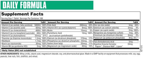 Daily Formula 100 tablets